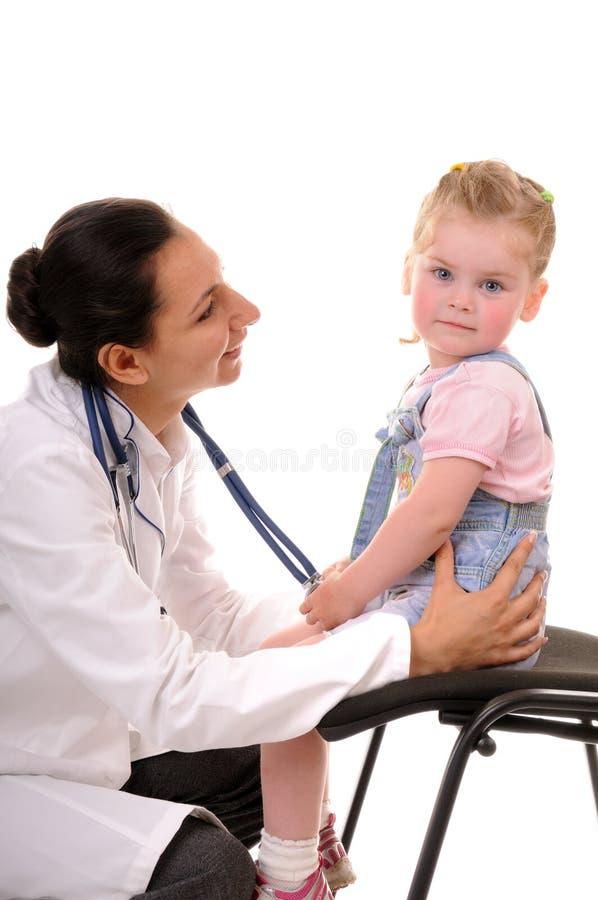 Criança e doutor fotografia de stock royalty free