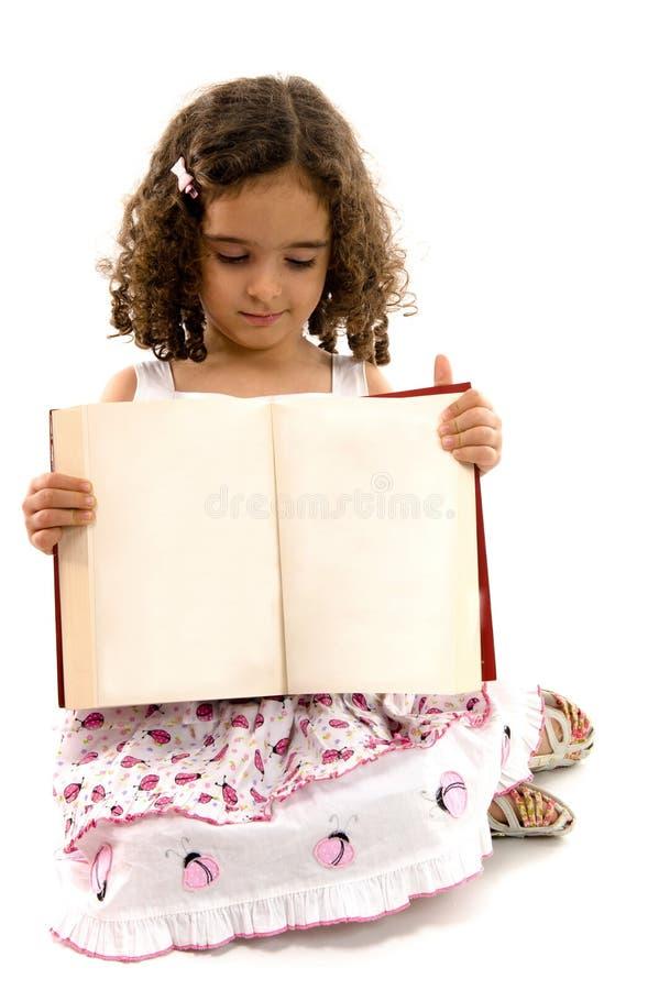Criança e livro fotografia de stock