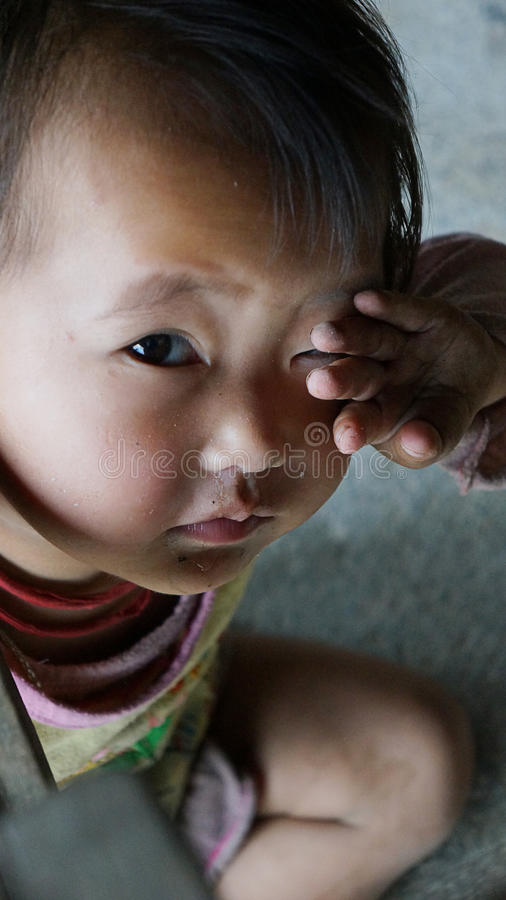 Criança em SAPA, Vietname de Hmong foto de stock royalty free