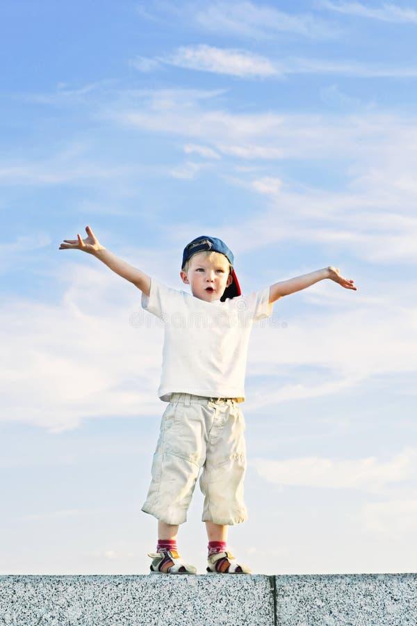 Criança engraçada foto de stock royalty free