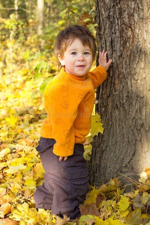 Criança engraçada ao ar livre fotos de stock