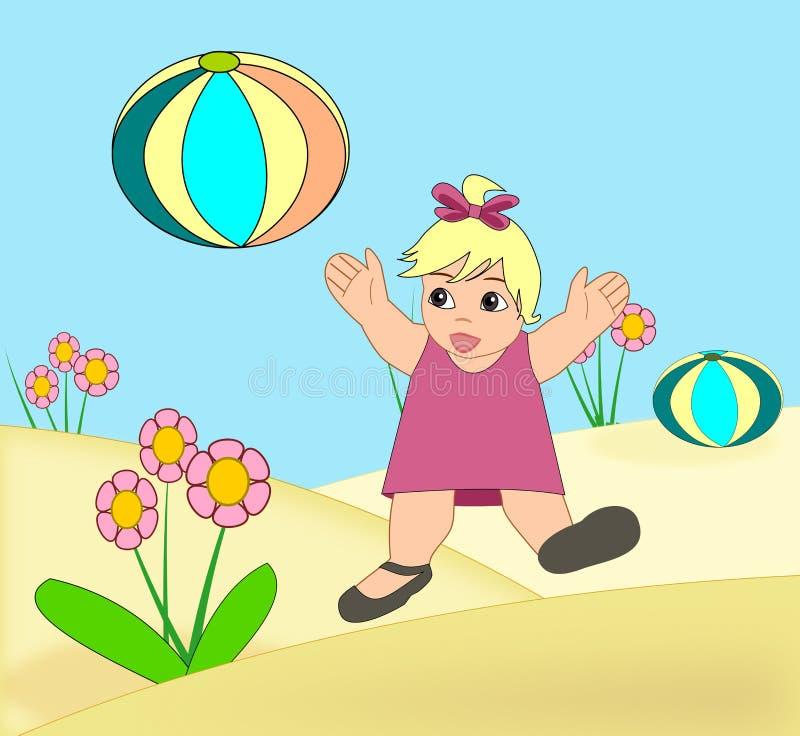 Criança feliz ilustração do vetor