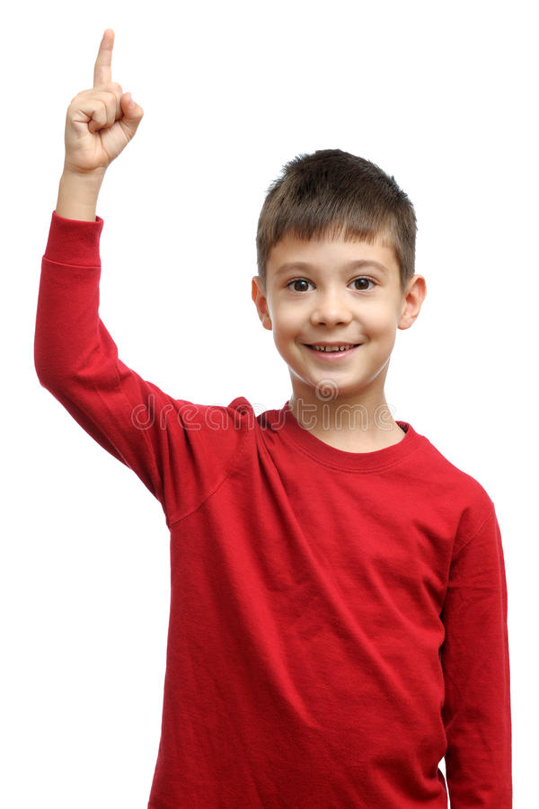Criança feliz com boa ideia imagens de stock royalty free