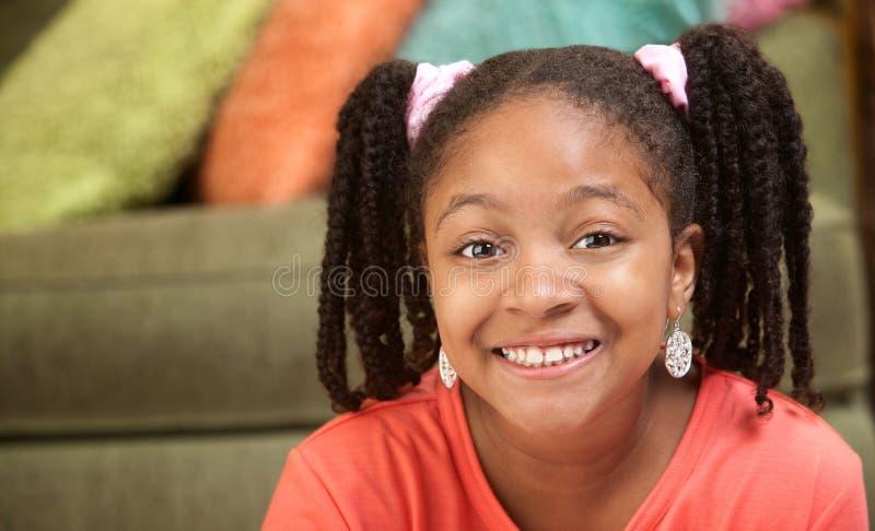 Criança feliz do African-American fotos de stock