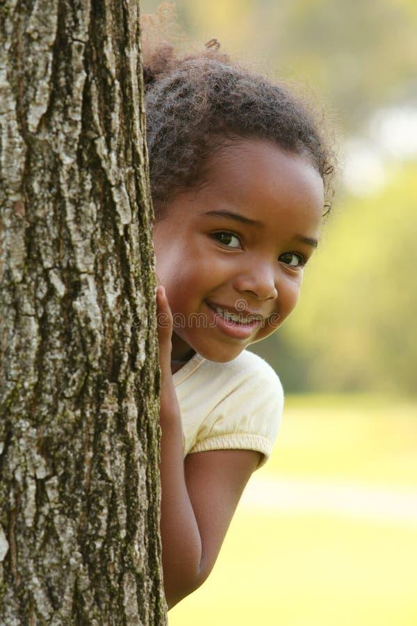 Criança feliz do americano africano imagem de stock