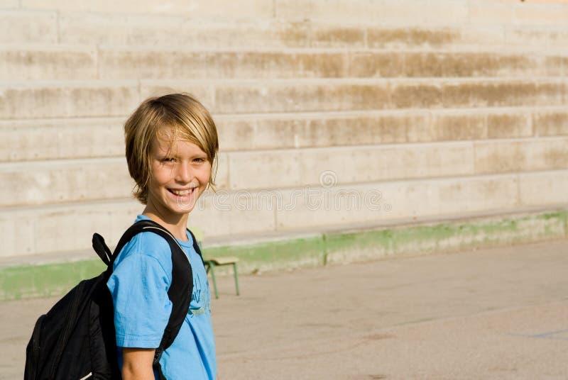 Criança feliz na escola fotografia de stock royalty free
