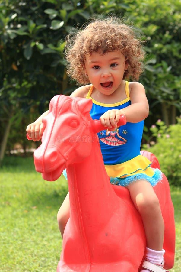Criança feliz no parque fotografia de stock royalty free