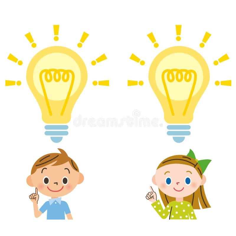 Criança, flash ilustração royalty free