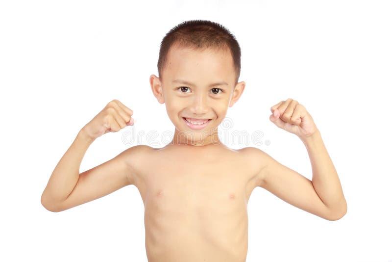 Criança forte foto de stock