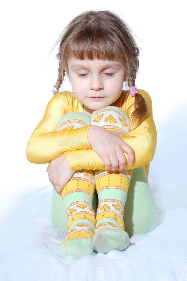 Criança fria imagens de stock
