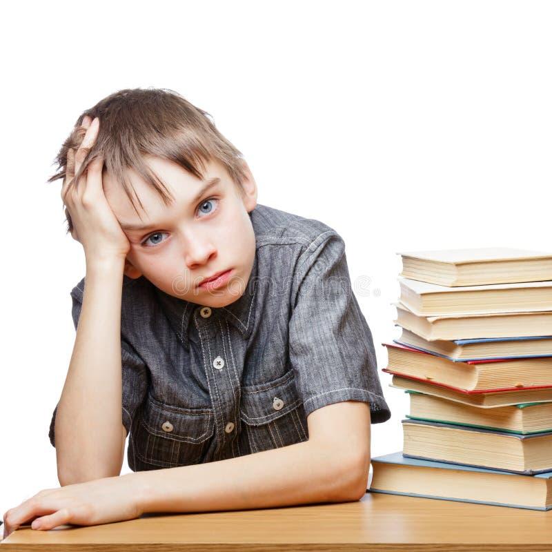 Criança frustrante com dificuldades de aprendizagem imagens de stock