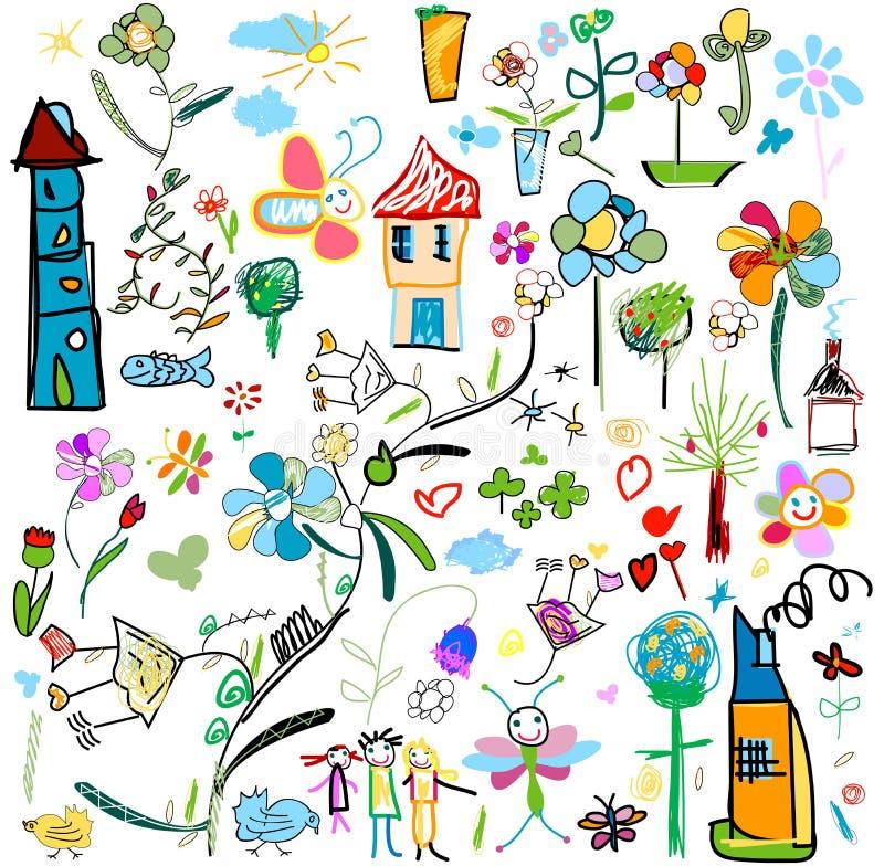 A criança gosta de desenhos ilustração royalty free
