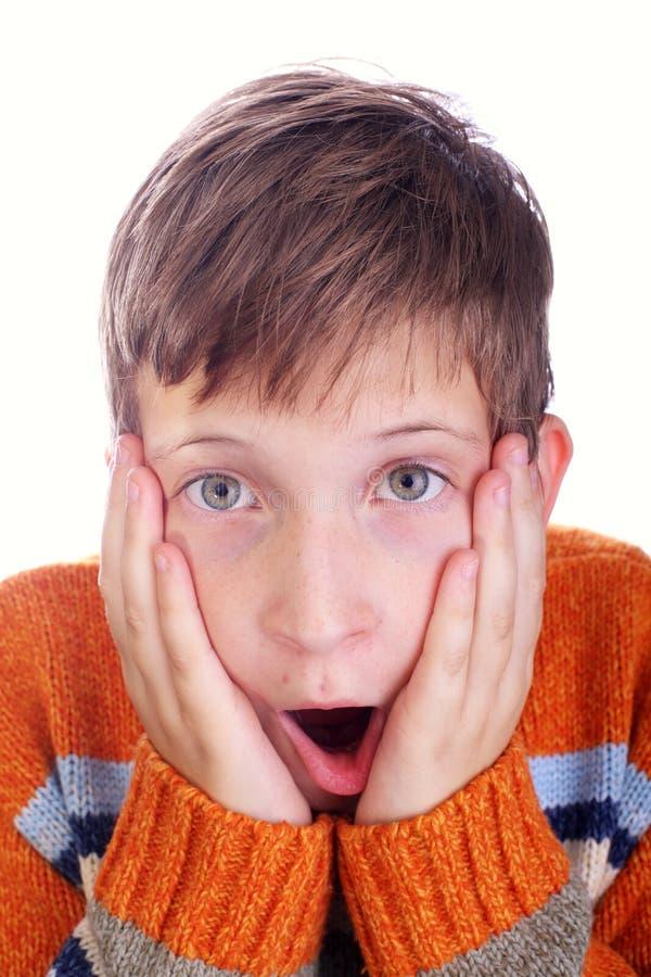 Criança horrorizada imagem de stock royalty free