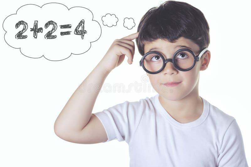 Criança inteligente foto de stock