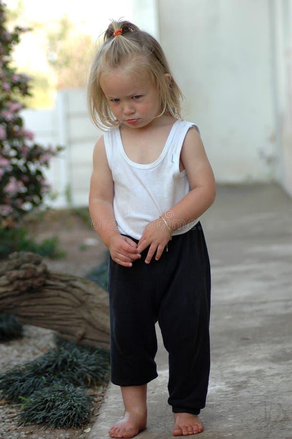 Criança irritada foto de stock royalty free