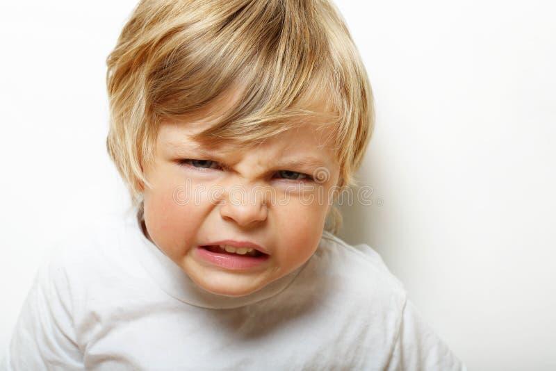 Criança irritada fotografia de stock royalty free
