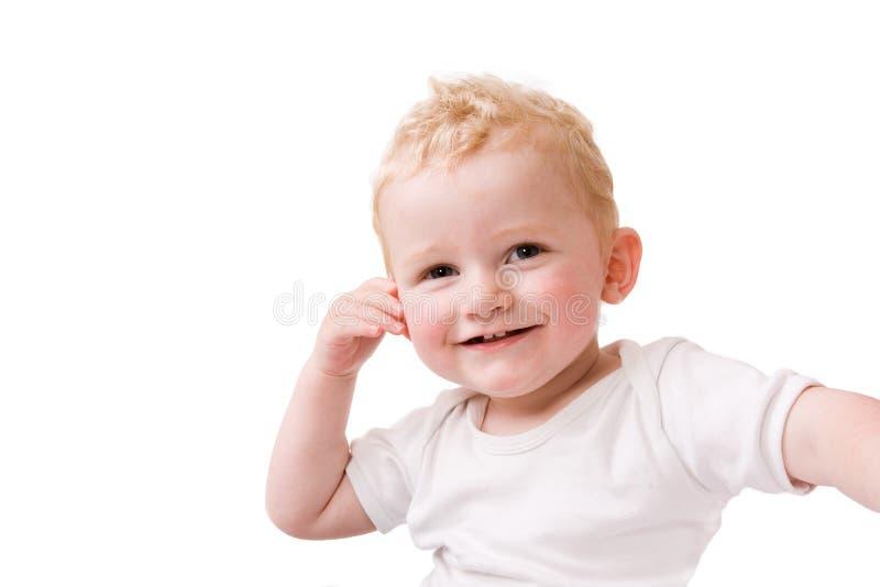 Criança loura feliz imagem de stock