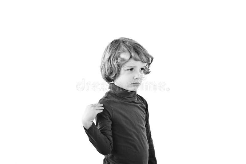 Criança mal-humorada foto de stock royalty free
