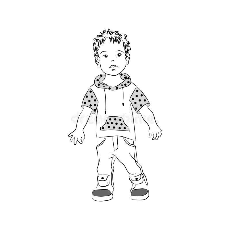 Criança, menino, infante, filho ilustração do vetor