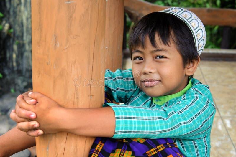 Criança muçulmana fotografia de stock