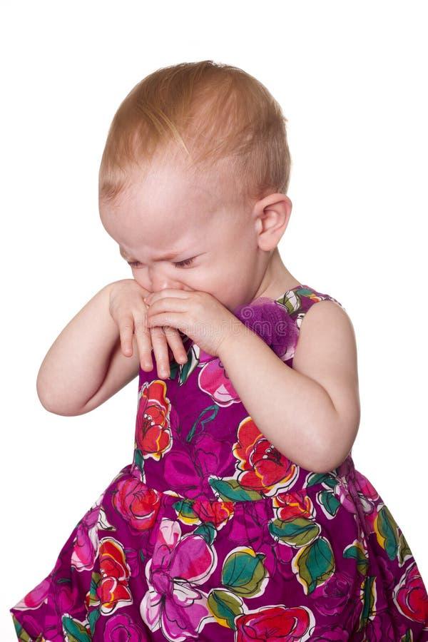 Criança muito virada foto de stock