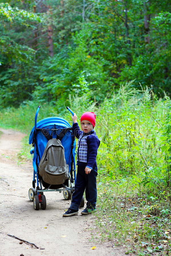 Criança nas madeiras fotografia de stock royalty free