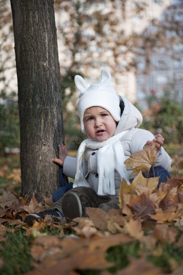 Criança no parque imagens de stock royalty free