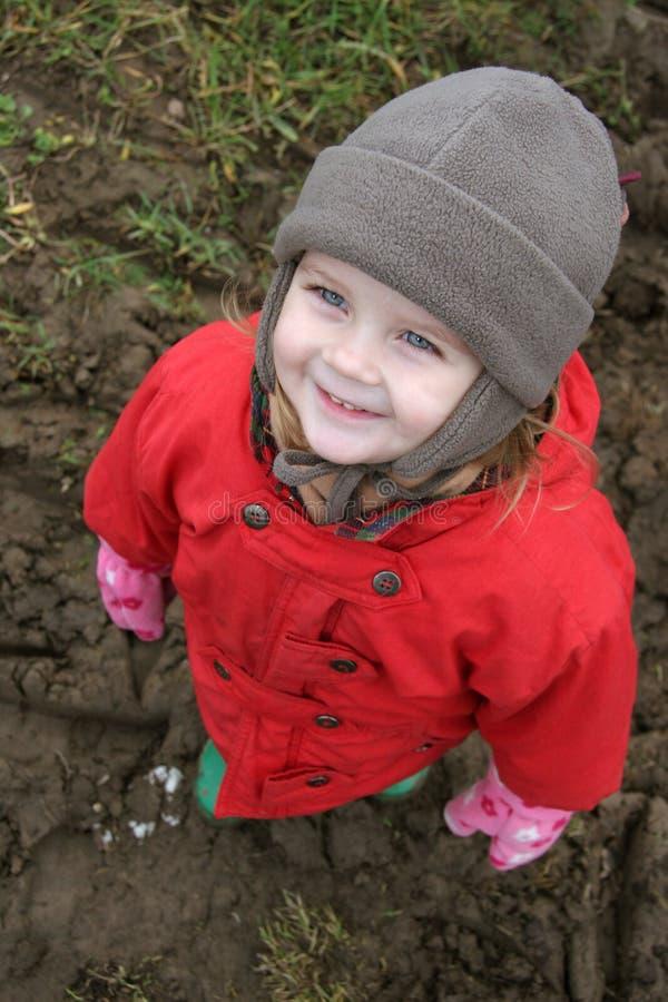 Criança no vermelho fotografia de stock