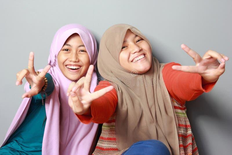Criança nova de dois muçulmanos fotos de stock