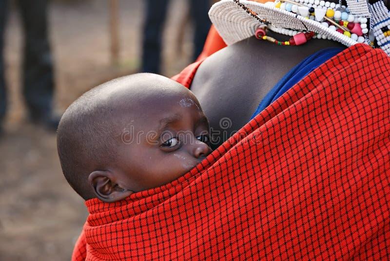 Criança nova do masai imagens de stock royalty free