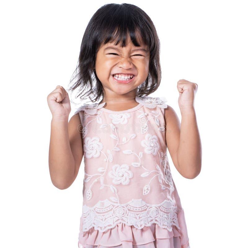 Criança nova do sucesso entusiasmado feliz imagens de stock royalty free