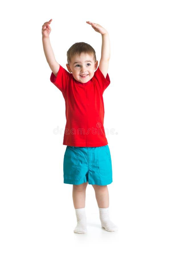 Criança ou criança que crescem isolada fotos de stock