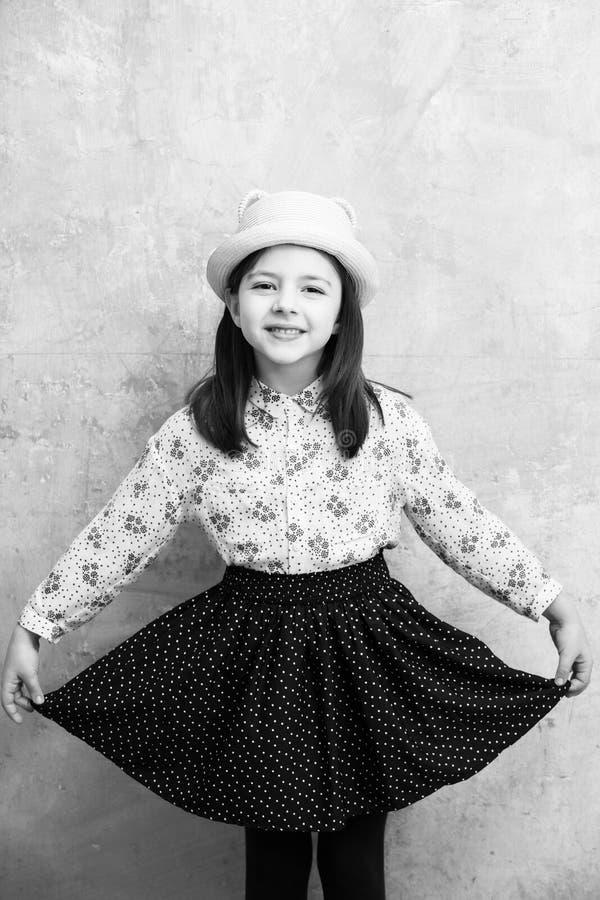 Criança ou menina ou modelo novo à moda fotos de stock