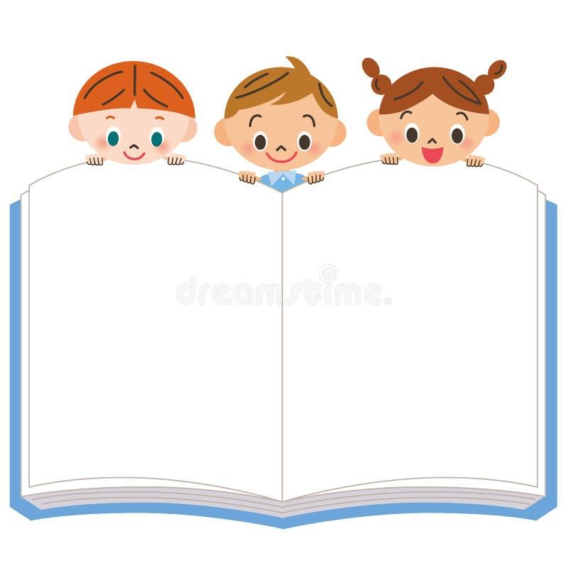 Criança para ver um livro ilustração do vetor