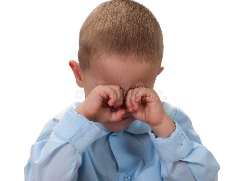 Criança pequena na tristeza fotografia de stock