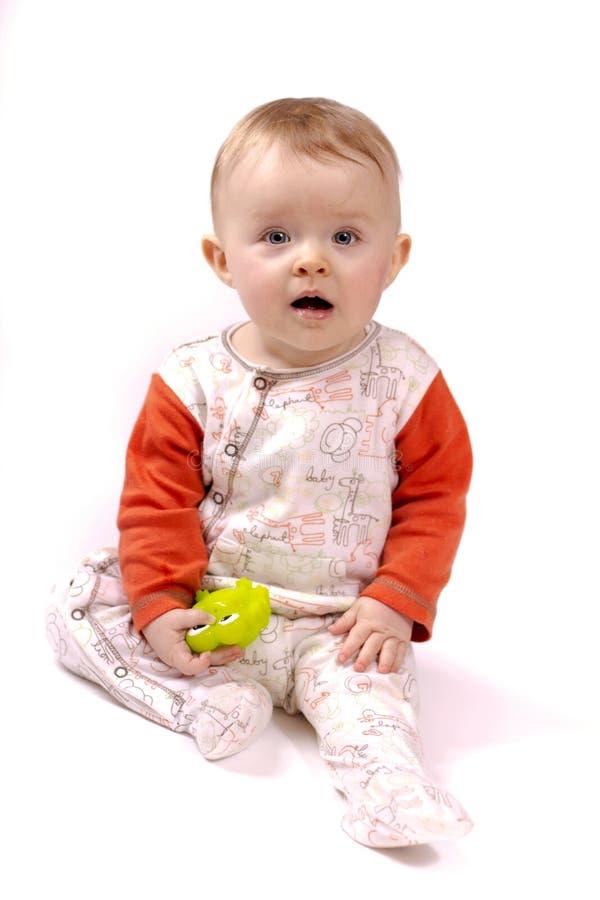 Criança pequena surpreendida foto de stock