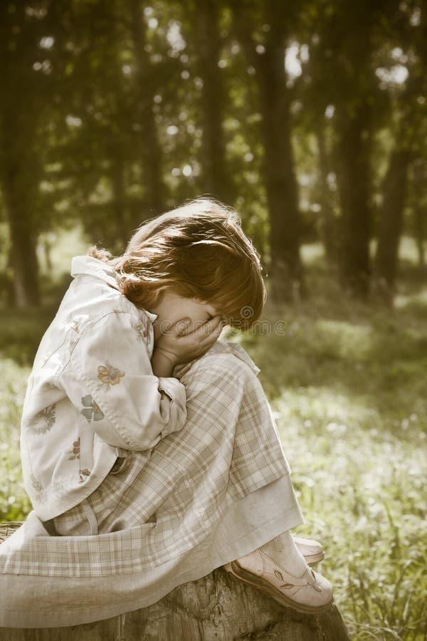 Criança perdida fotografia de stock