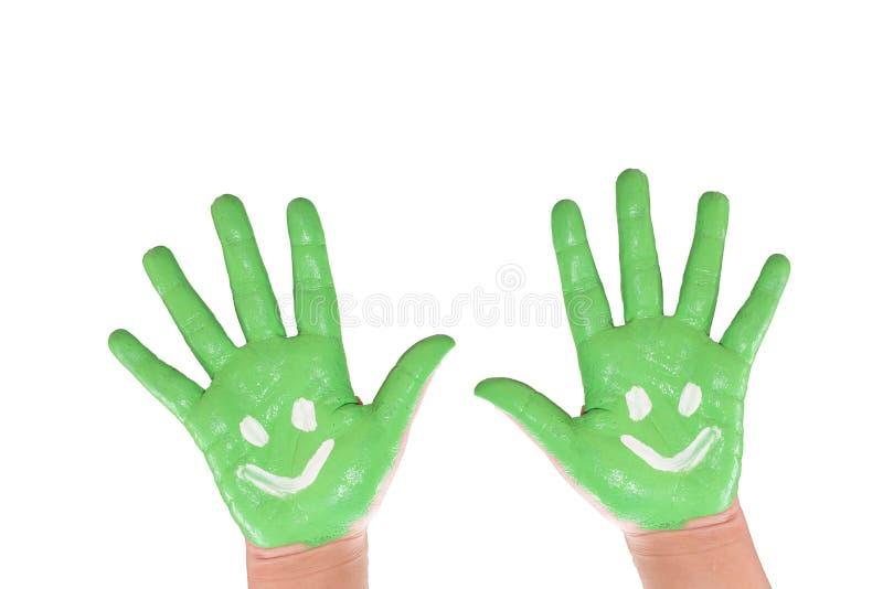 Criança pintada mão imagens de stock royalty free