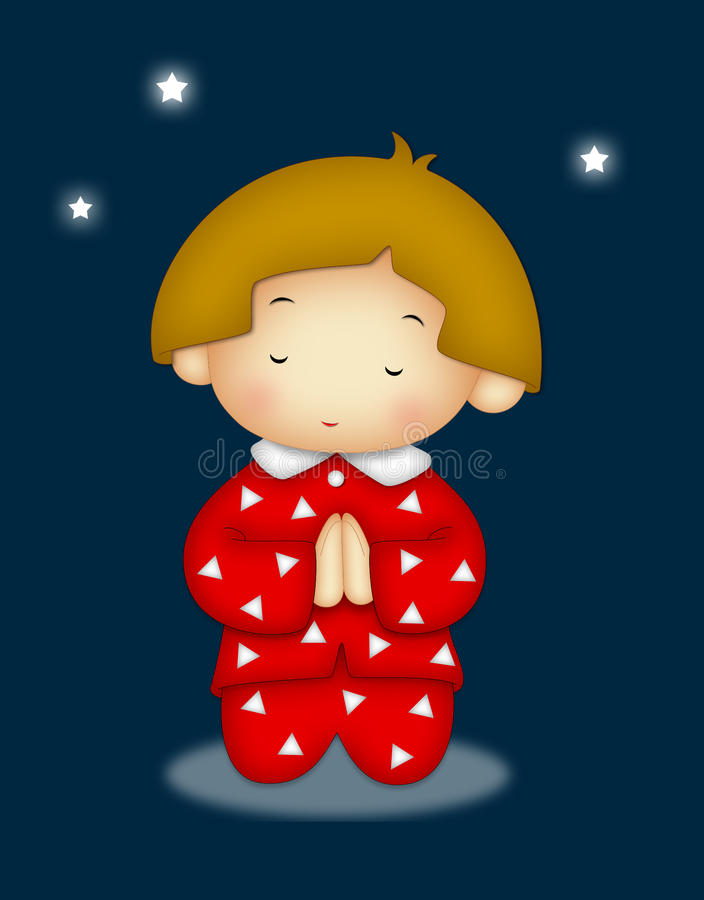 Criança Praying ilustração stock