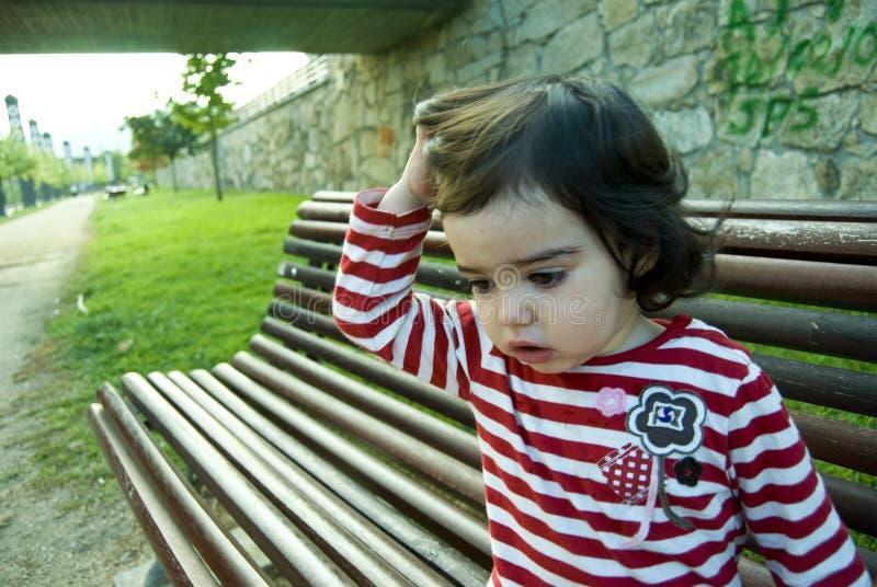 Criança preocupada fotografia de stock royalty free