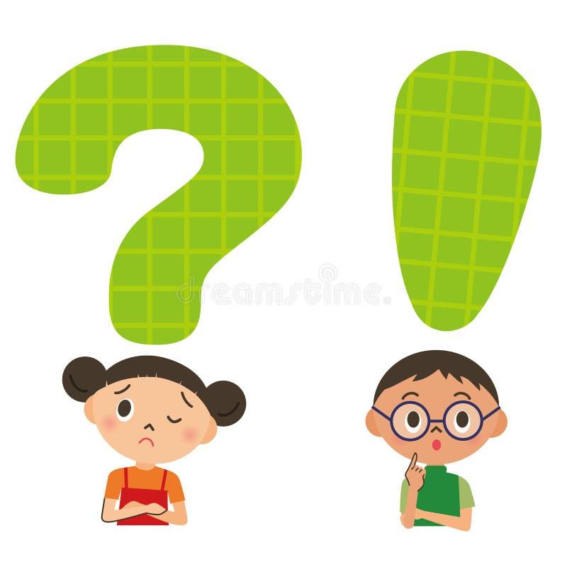 Criança, problema, problema ilustração stock