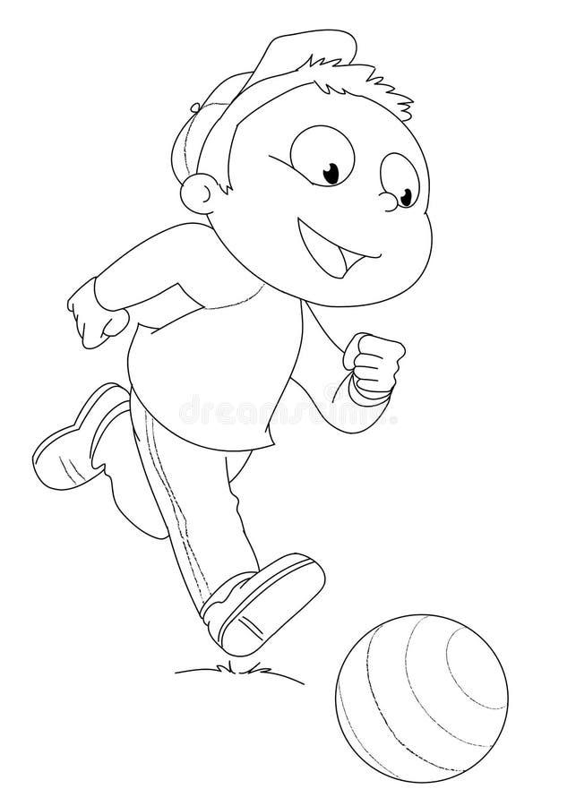 Criança que joga com esfera ilustração royalty free