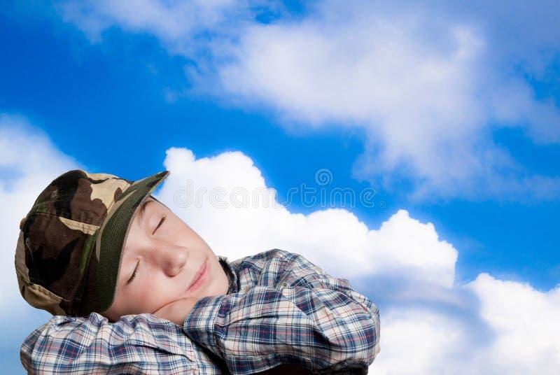Criança que sonha fotos de stock royalty free