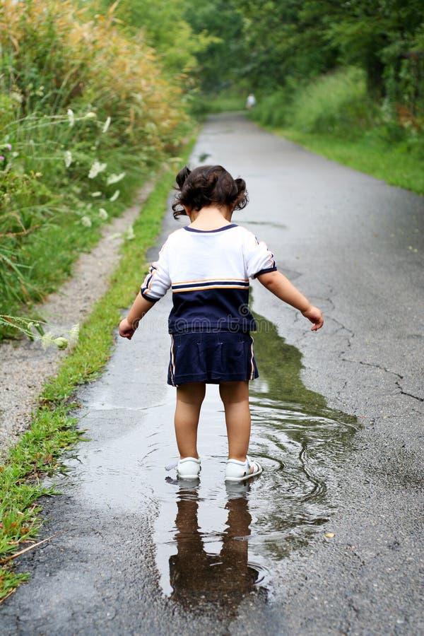Criança reflection2 fotos de stock