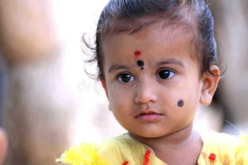 Criança rural indiana imagem de stock royalty free