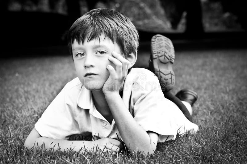 Criança séria fotografia de stock royalty free