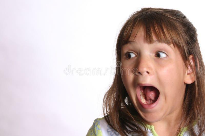 Criança Scared fotografia de stock royalty free