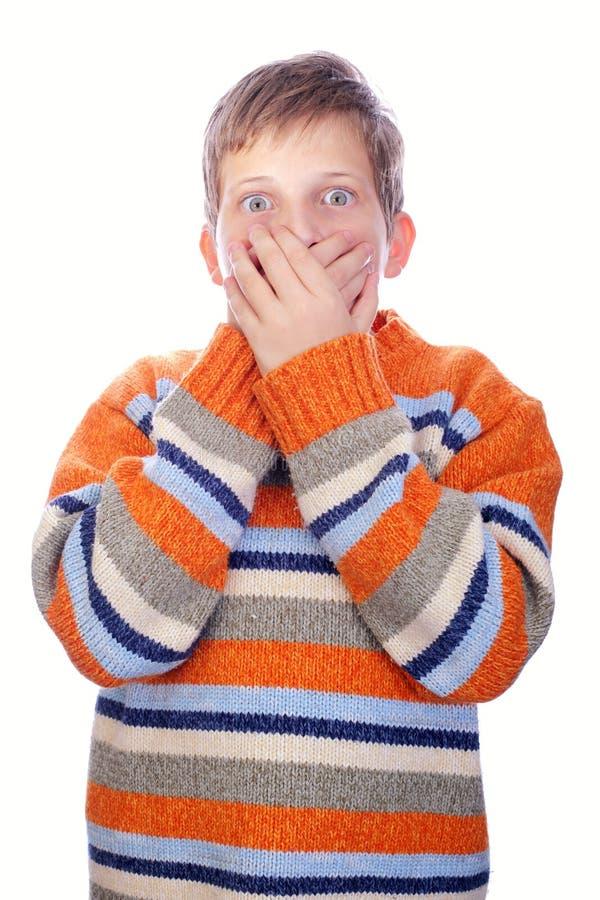 Criança Scarred imagem de stock
