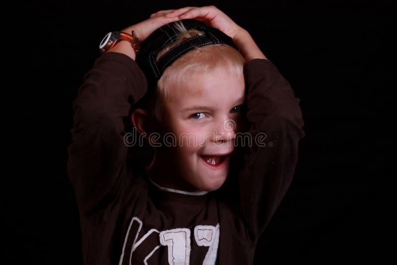 Criança surpreendida. fotos de stock