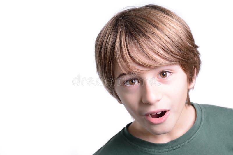 Criança surpreendida foto de stock